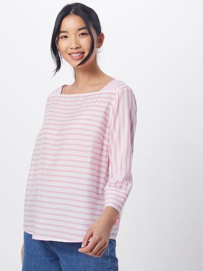 TOM TAILOR DENIM Bluse in pink / weiß, Modelansicht
