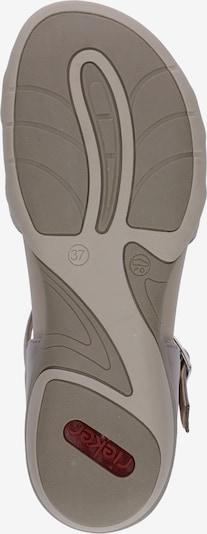 RIEKER Sandalen met riem in de kleur Lichtgrijs: Onderaanzicht