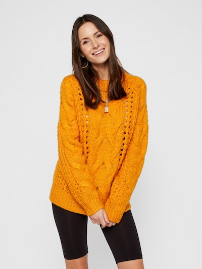 PIECES Pullover in orange, Modelansicht