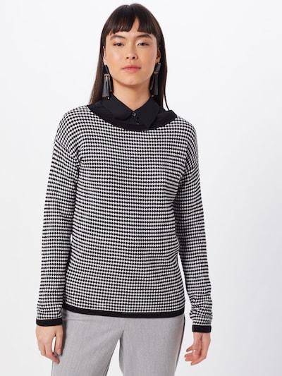 TOM TAILOR Pullover in schwarz / weiß, Modelansicht