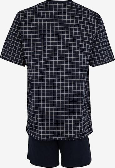 SCHIESSER Pyjama in dunkelblau / grau: Rückansicht
