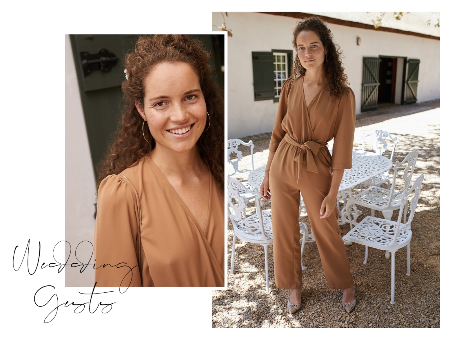 Emily - Brown Wedding Guest Outfit