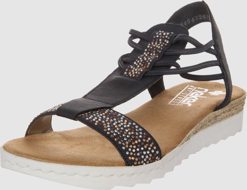 RIEKER Riemensandalen mit Glitzersteinen Günstige und langlebige Schuhe