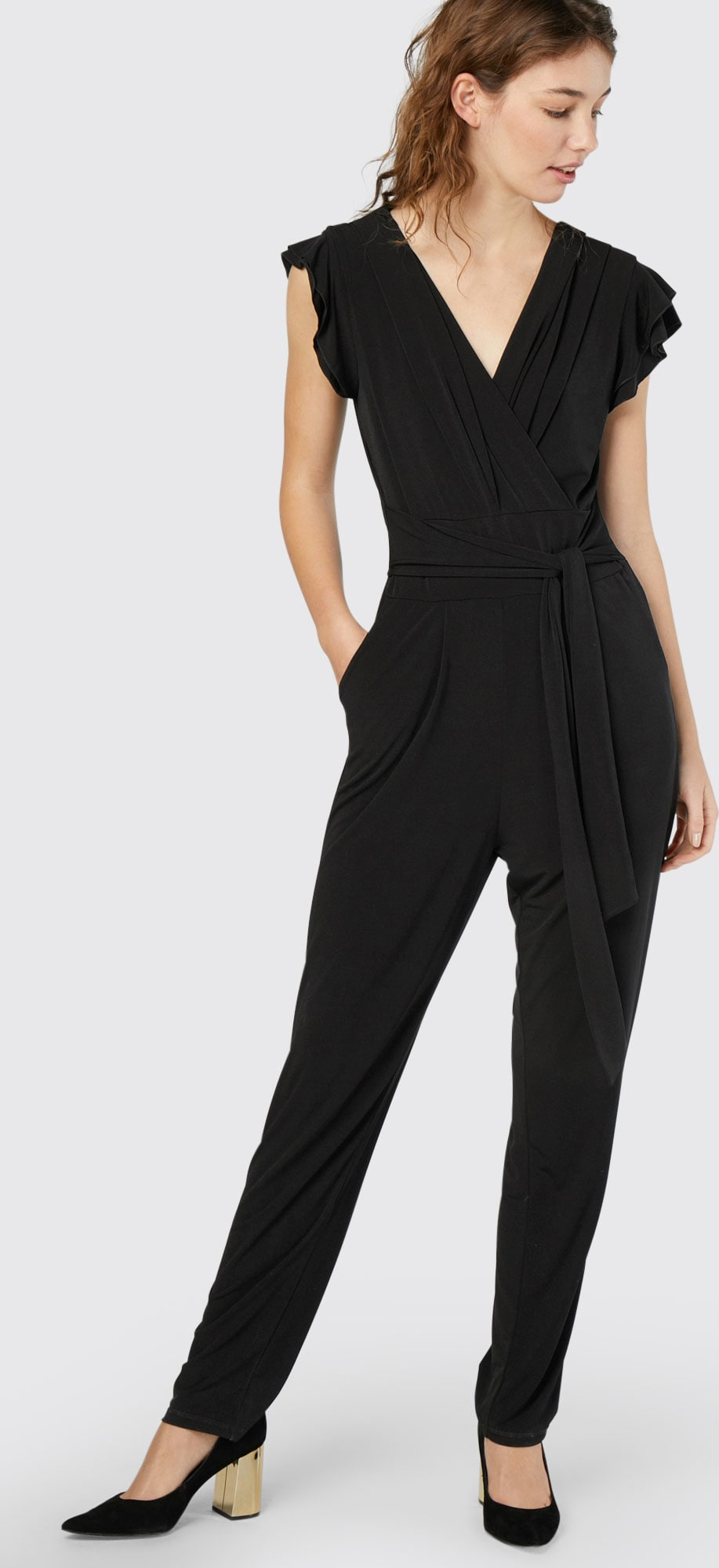 esprit collection jumpsuit 39 new jersey 39 in schwarz about you. Black Bedroom Furniture Sets. Home Design Ideas