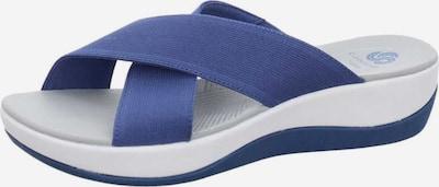 CLARKS Pantoletten in blau / weiß, Produktansicht