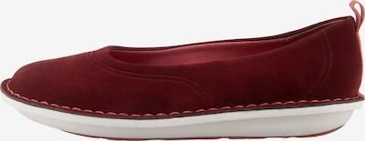 CLARKS Step Weltease. Sportliche Ballerinas in rot, Produktansicht