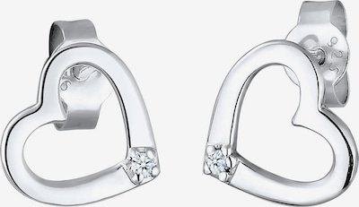 Diamore Ohrringe 'Herz' in silber, Produktansicht