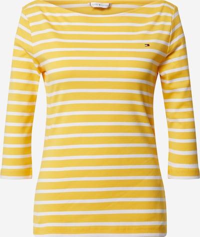 TOMMY HILFIGER Shirt 'SP AISHA BOAT-NK TOP 3/4 SLV' in gelb / weiß, Produktansicht