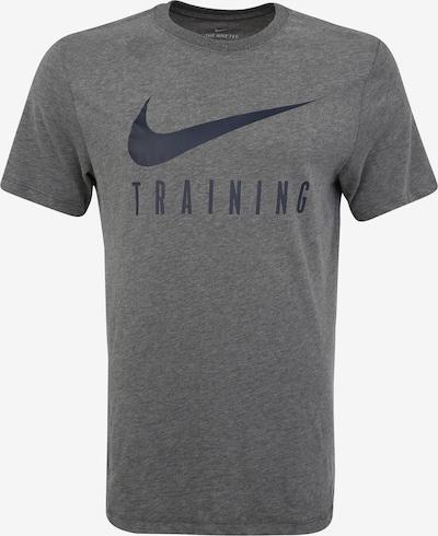 NIKE Koszulka funkcyjna 'M NK DRY TEE NIKE TRAIN' w kolorze szary / czarnym, Podgląd produktu