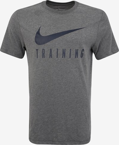 NIKE Sport-Shirt 'M NK DRY TEE NIKE TRAIN' in grau / schwarz, Produktansicht