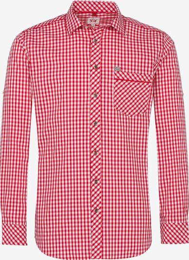 SPIETH & WENSKY Hemd 'Guttenberg' in kirschrot / weiß, Produktansicht