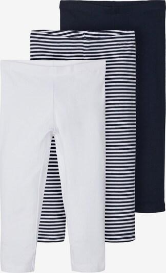 NAME IT Leggings in nachtblau / weiß, Produktansicht