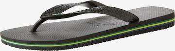 HAVAIANAS T-Bar Sandals 'Brasil' in Black