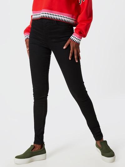 LEVI'S Jeans 'MILE HIGH Super Skinny' in schwarz: Frontalansicht