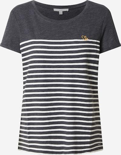 TOM TAILOR DENIM T-Shirt in gold / grau / schwarzmeliert: Frontalansicht