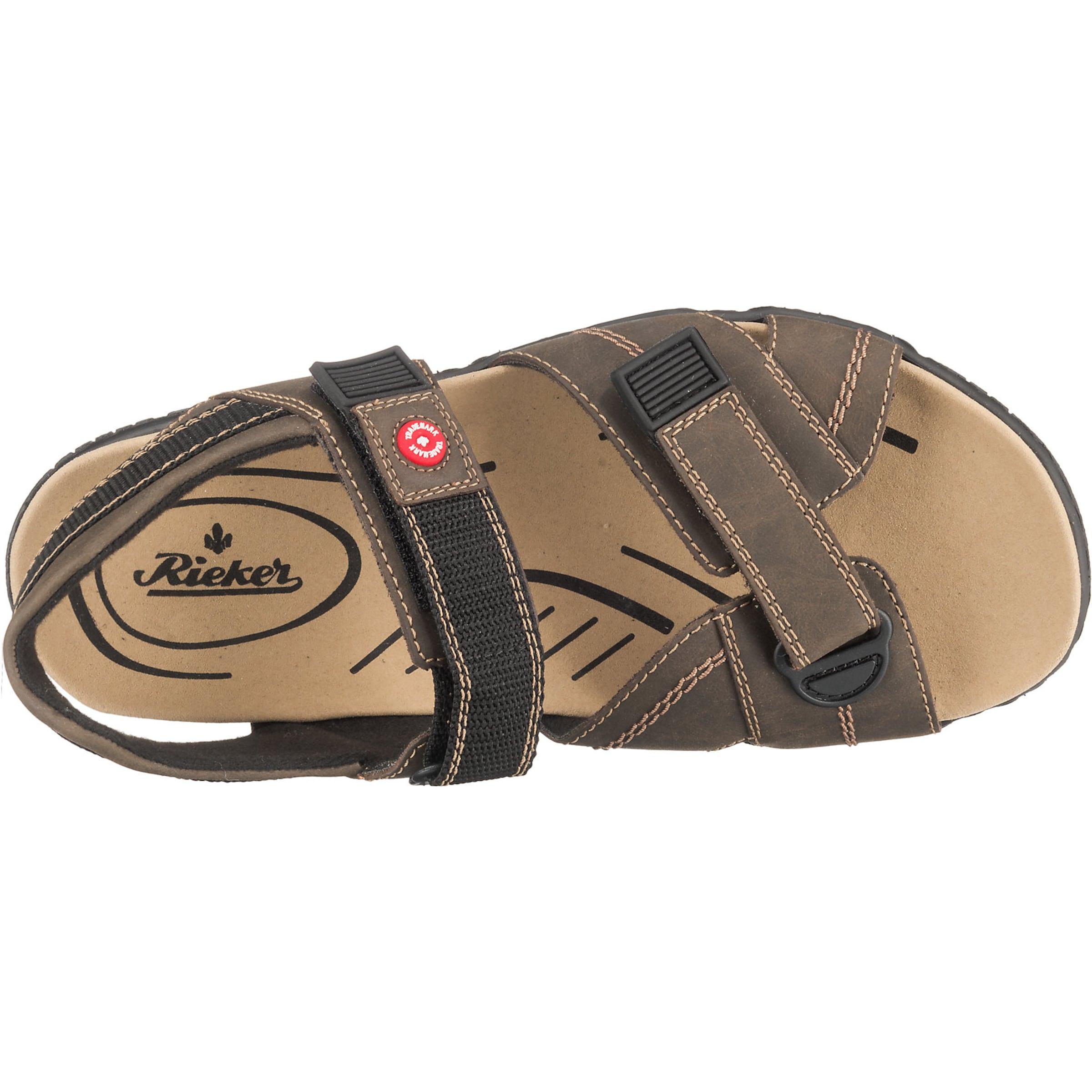 Rieker Rieker In In BraunSchwarz BraunSchwarz In Sandale Sandale Rieker Sandale A5RLj4