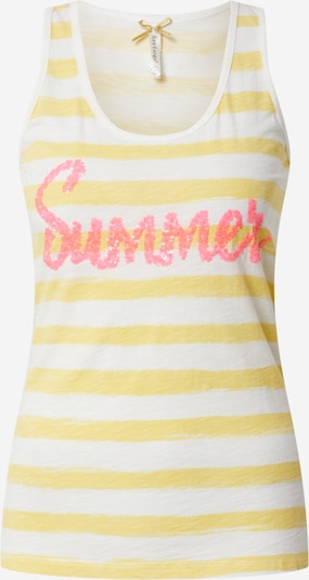 Key Largo Top 'Summer' in de kleur Geel / Pink / Wit, Productweergave