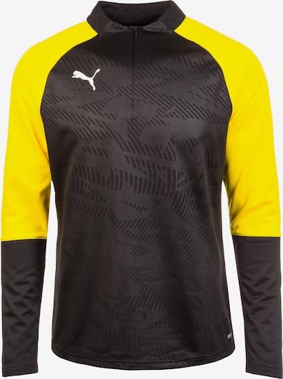 PUMA Sweatshirt in limone / schwarz, Produktansicht