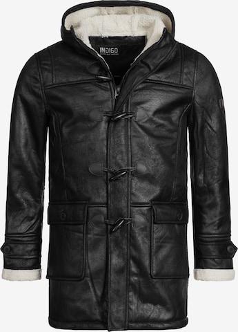 Manteau d'hiver 'Calshot' INDICODE JEANS en noir