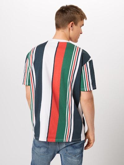 Urban Classics T-Shirt en bleu marine / vert / rouge / blanc: Vue de dos