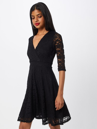 Mela London Koktejlové šaty 'DELICATE LACE LONG SLEEVE DRESS' - černá, Model/ka