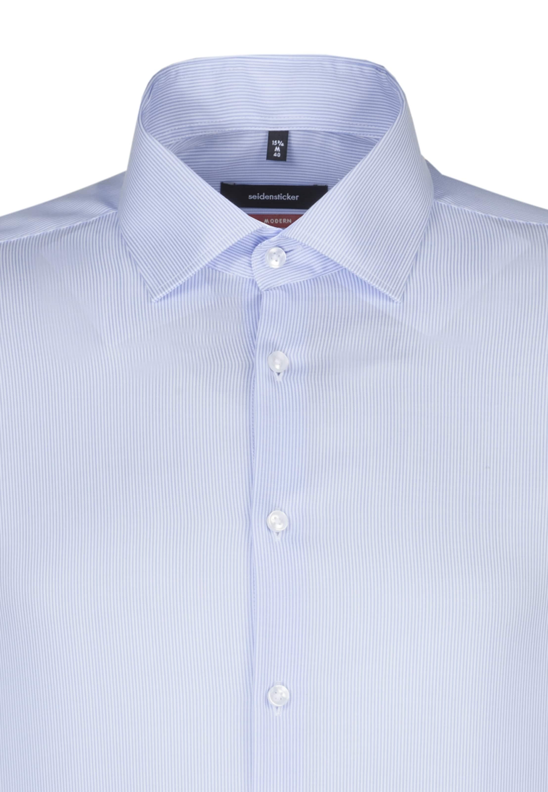 Overhemd Seidensticker In Zakelijk LichtblauwWit 'modern' 435ARLj