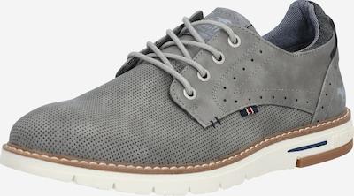 szürke MUSTANG Fűzős cipő, Termék nézet