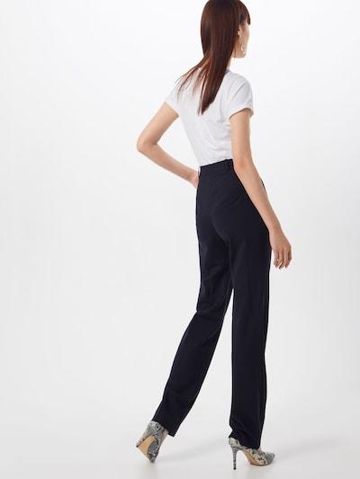 Pantaloni cu dungă HUGO pe navy: Privire spate