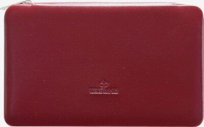 WINDROSE Schmuckbox 'Merino' in rot, Produktansicht