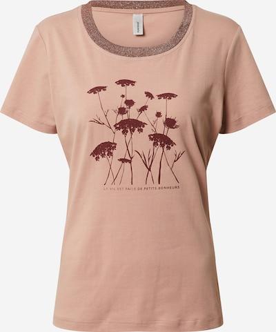 Soyaconcept T-shirt 'Pylle 23' en marron / rose ancienne / rouge foncé / argent: Vue de face