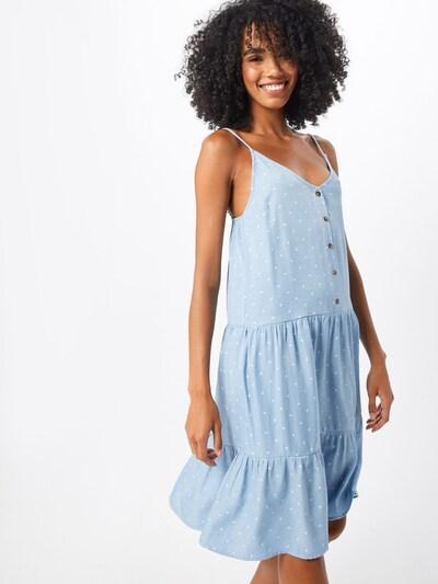 SISTERS POINT Letní šaty 'VICKI-ST.DR' - světlemodrá / bílá, Model/ka