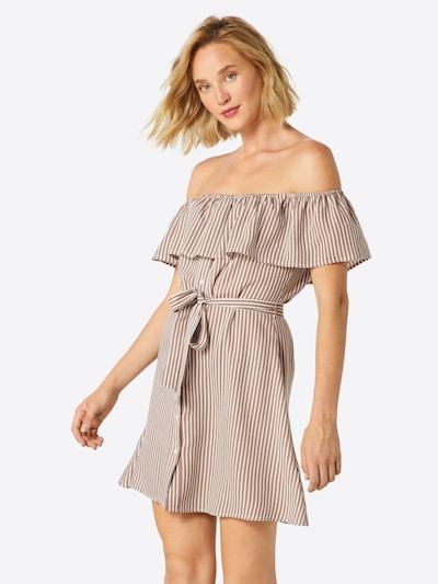 ABOUT YOU Kleid 'Lotta' in hellbraun / weiß, Modelansicht