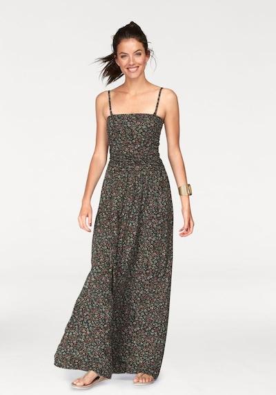 Aniston CASUAL Strandkleid in grün / rot / schwarz, Modelansicht