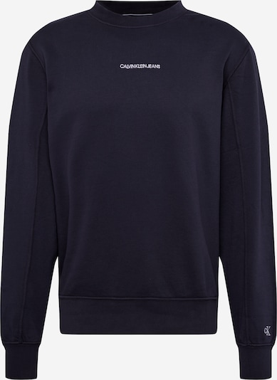 Bluză de molton 'Instit' Calvin Klein Jeans pe albastru, Vizualizare produs