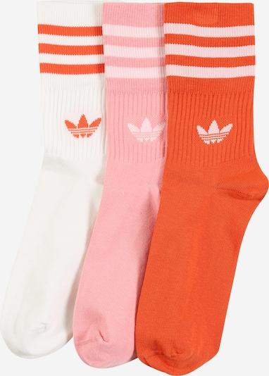 ADIDAS ORIGINALS Socken 'MID CUT CRW SCK' in rosa / rot / weiß, Produktansicht