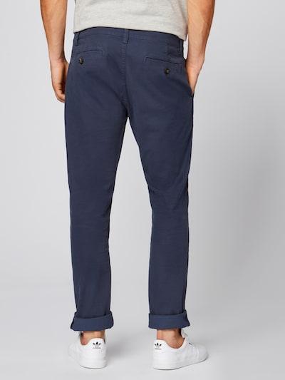 Pantaloni eleganți TOM TAILOR pe navy: Privire spate