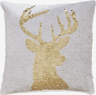 MY HOME Kissenhülle in gold / weiß, Produktansicht