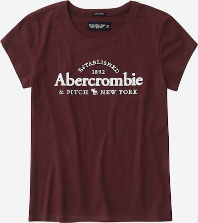 Abercrombie & Fitch T-Krekls pieejami burgundieša / balts, Preces skats