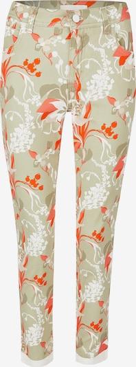 Angels Ankle-Jeans ,Ornella Decorate' mit Blumenmuster in orange / weiß, Produktansicht
