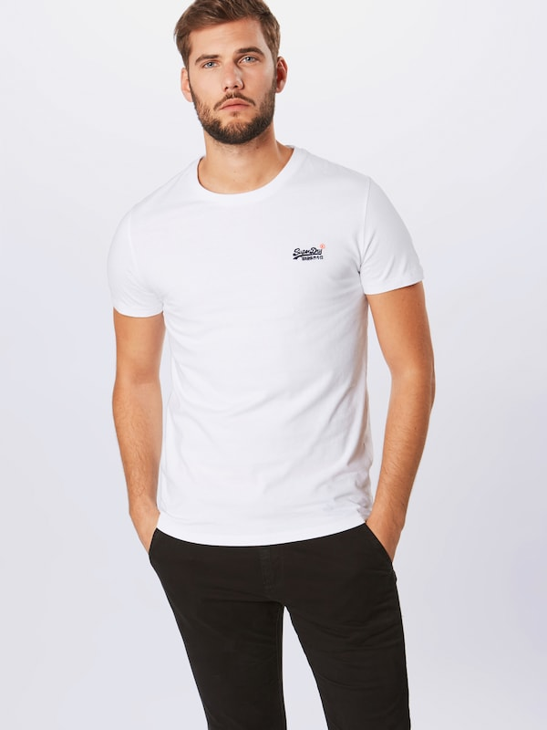 Emb Superdry s Tee' S T Label shirt 'orange En Blanc Vntge OPZkXuwiT