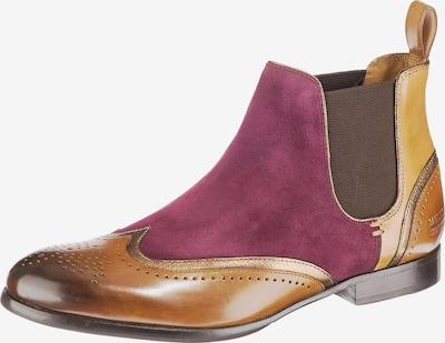 MELVIN & HAMILTON Chelsea Boots 'Sally 19' in braun / cognac / lila, Produktansicht
