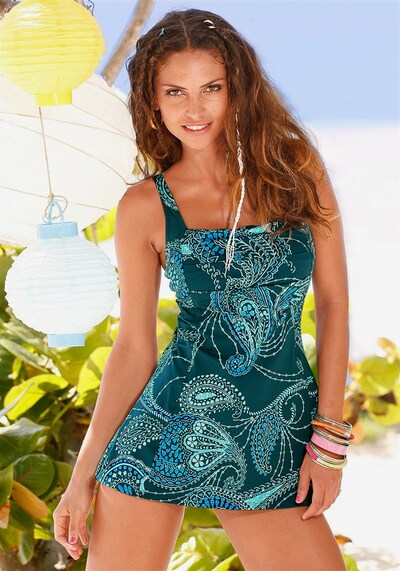 LASCANA Badeanzug-Kleid in petrol, Modelansicht