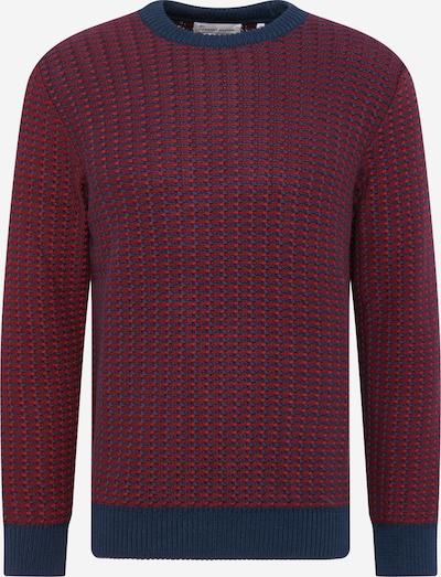 By Garment Makers Svetr 'Leo' - modrá / vínově červená, Produkt
