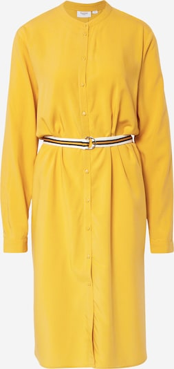 SAINT TROPEZ Kleid 'Woven' in gelb / senf / weiß, Produktansicht
