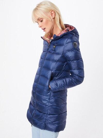 Blauer.USA Zimný kabát 'IMPERMEABILE LUNGHI IMBOTTITO PIUMA' - modré, Model/-ka