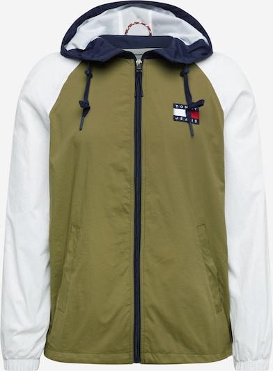 Tommy Jeans Prehodna jakna | kremna / oliva barva, Prikaz izdelka