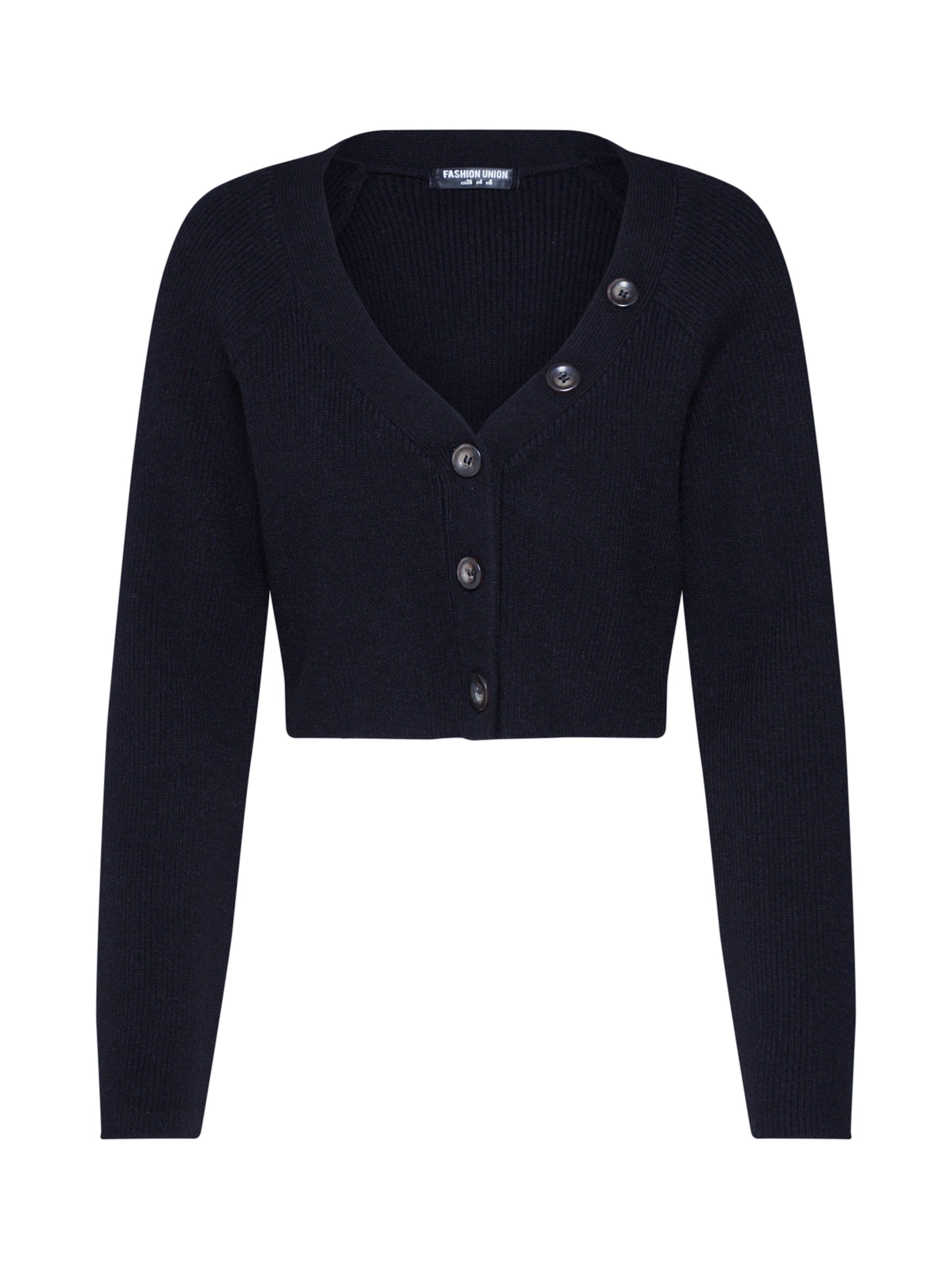 Cardigan Fashion Union Noir 'valerina Top' En bfgyI67Yv