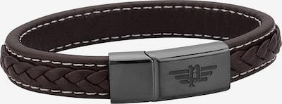 POLICE Armband 'Annandale PJ26268BLB.02-L' in dunkelbraun / dunkelgrau, Produktansicht