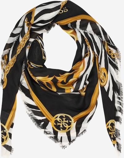 GUESS Schal in gold / schwarz / weiß, Produktansicht