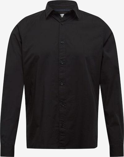 ESPRIT Overhemd 'N SoliSt Po lsl' in de kleur Zwart, Productweergave
